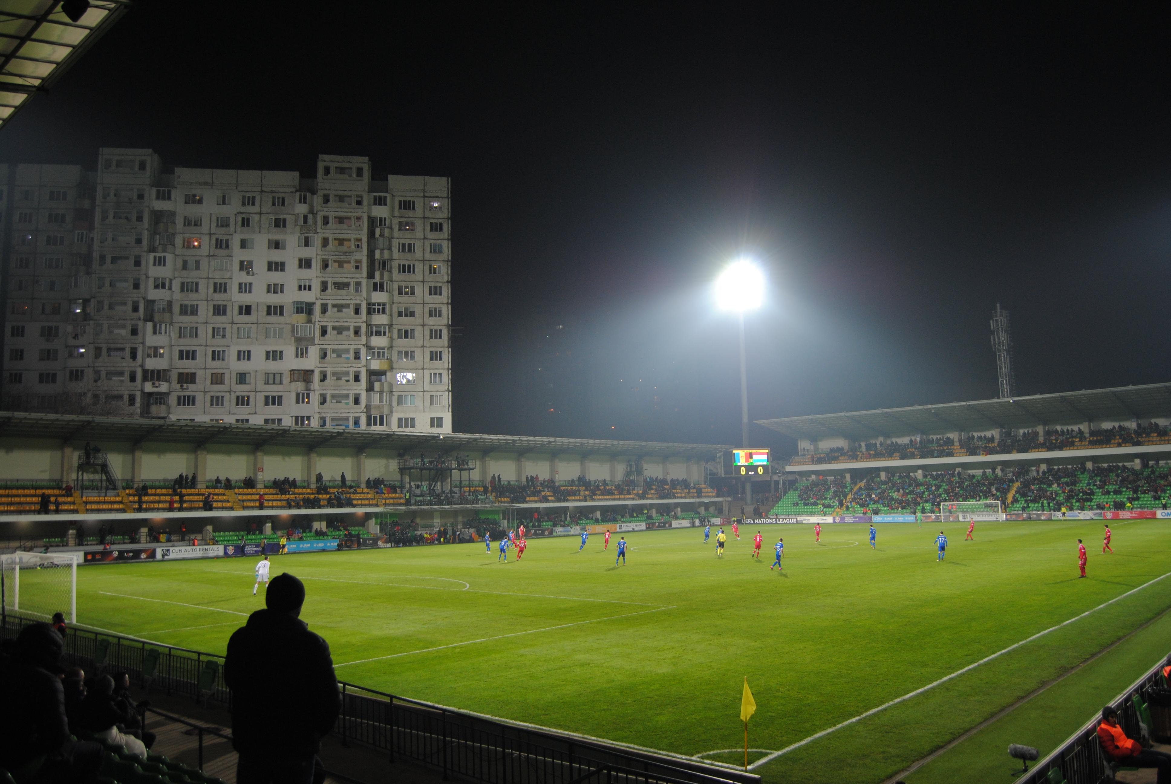 Estadio Zimbru durante el Moldavia vs Luxemburgo