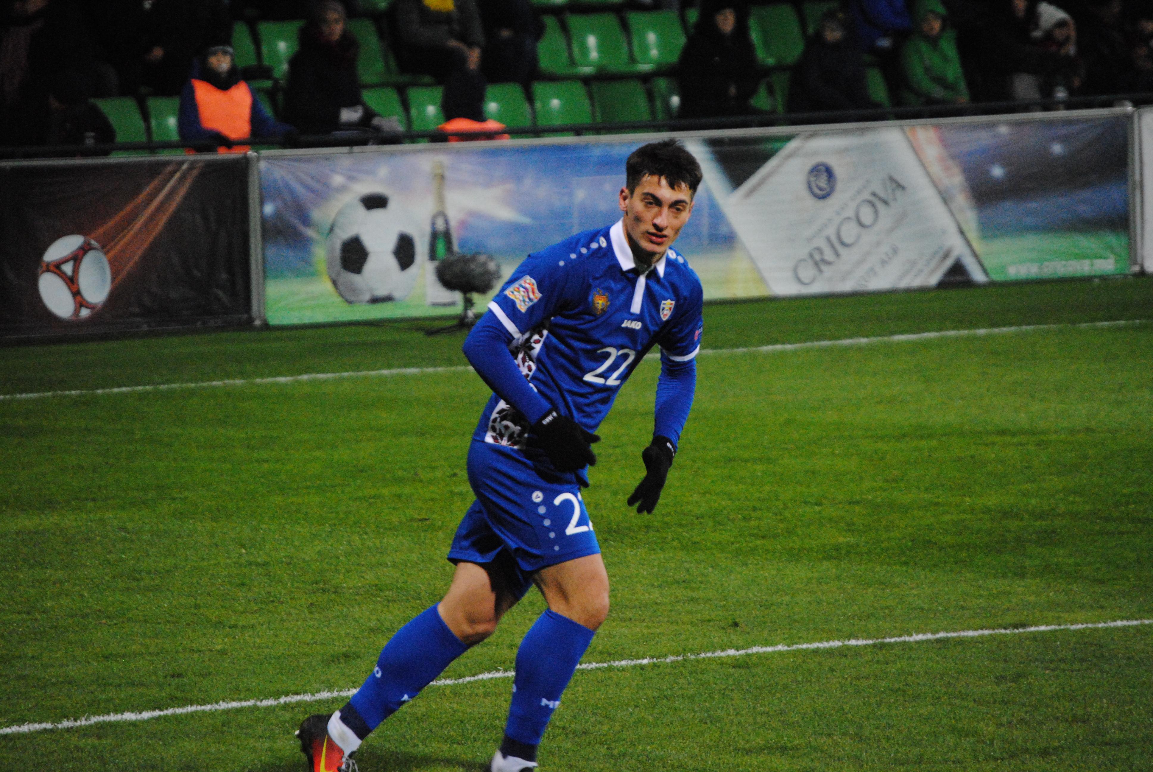 Jugador de la selección moldava de fútbol