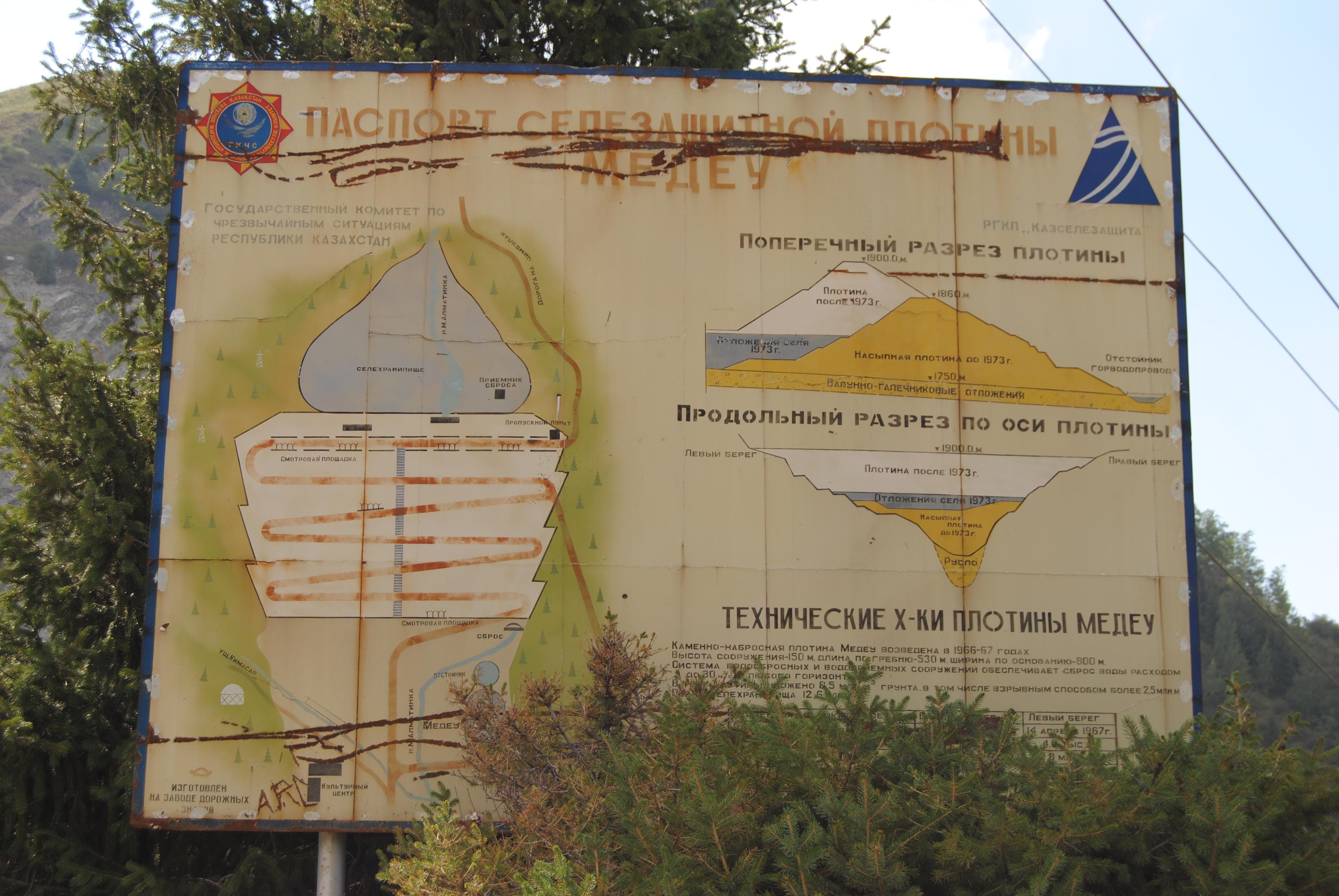 Cartel ex-soviético en Medeu, Kazajistán