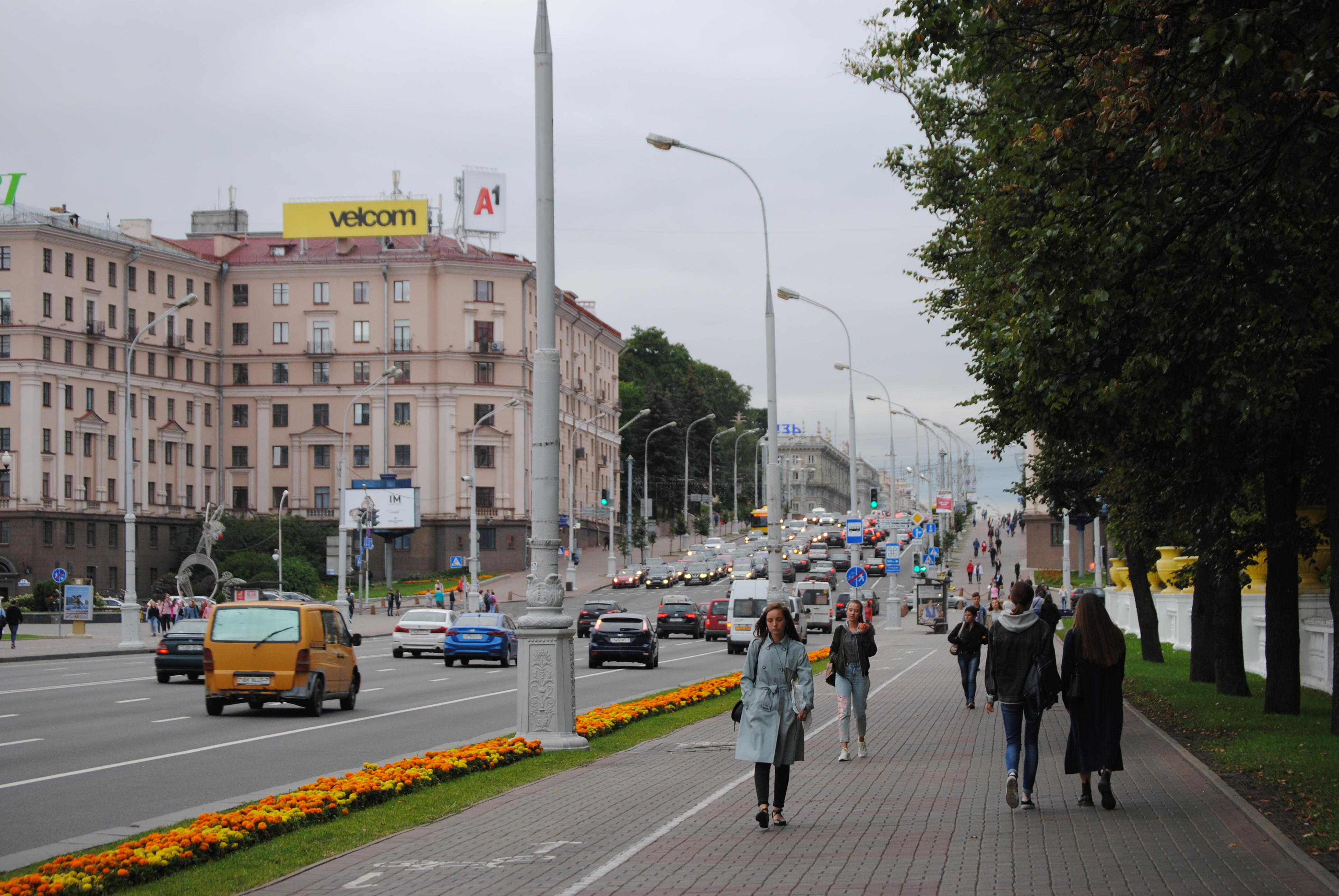 Avenida de la Independencia de Minsk, Bielorrusia