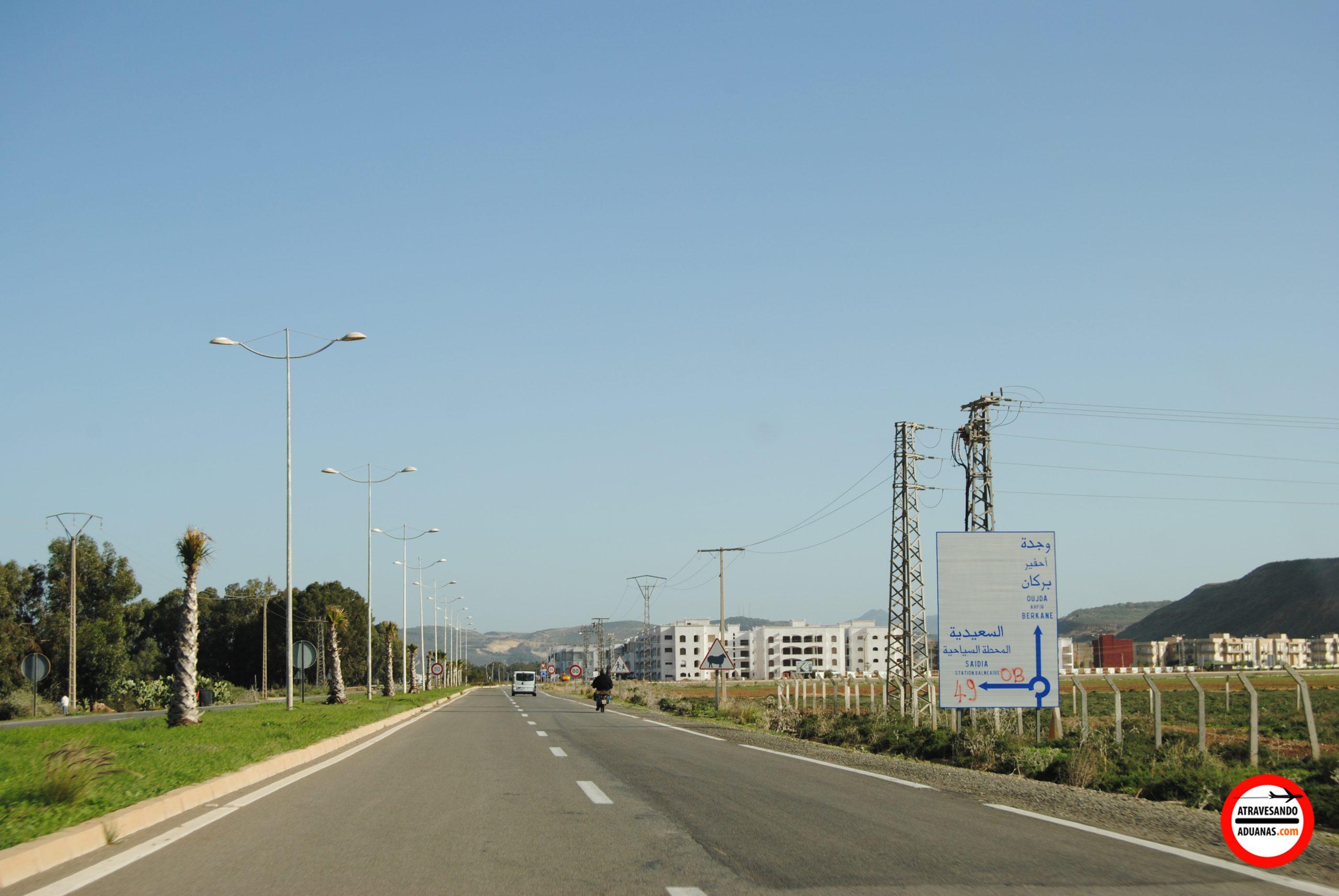 carretera antes del desvío a saïdia
