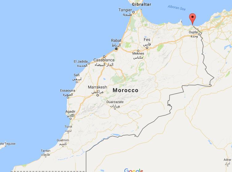 mapa de Saïdia en Marruecos