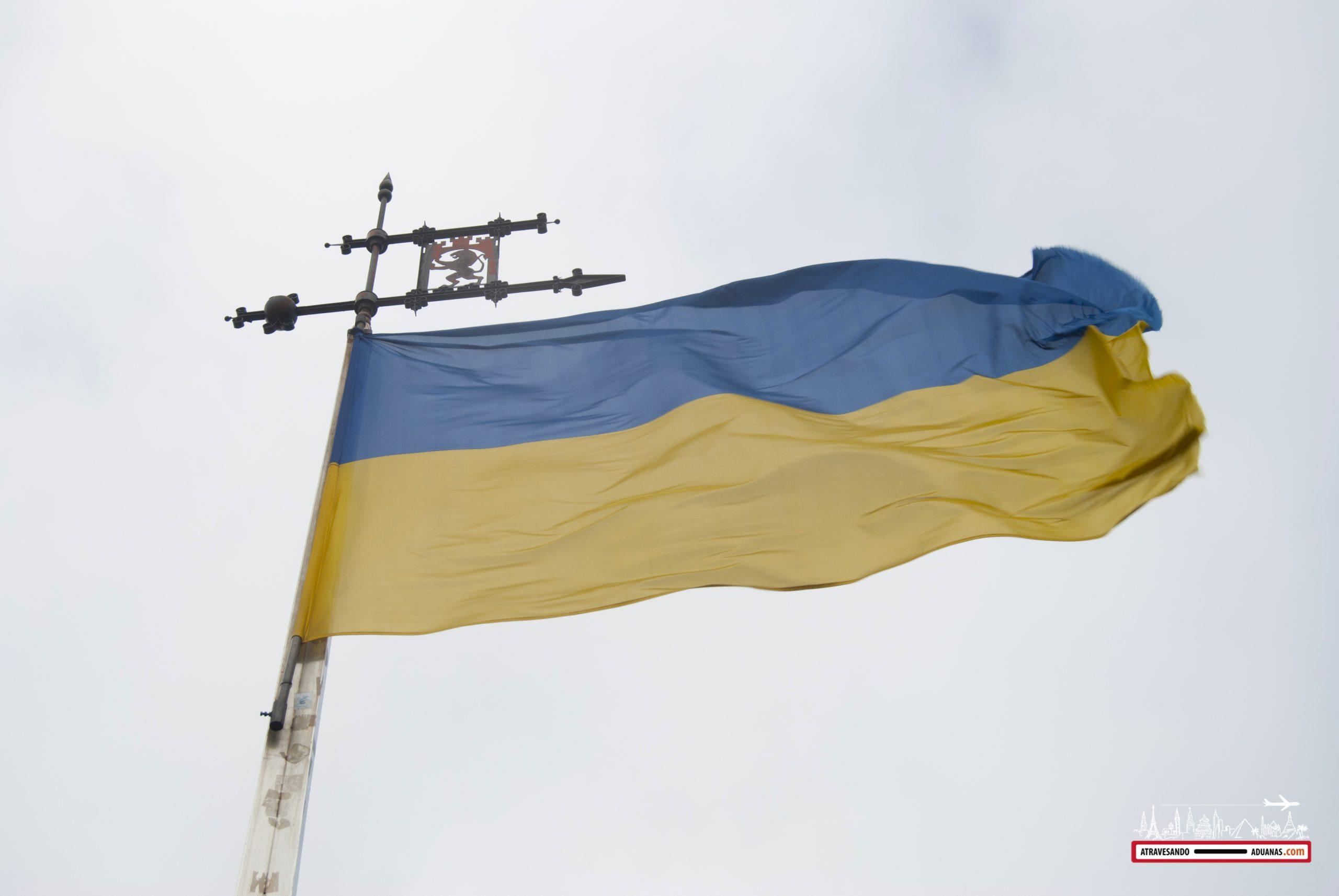 bandera ucraniana en lviv
