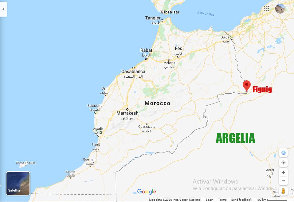 mapa de figuig en marruecos