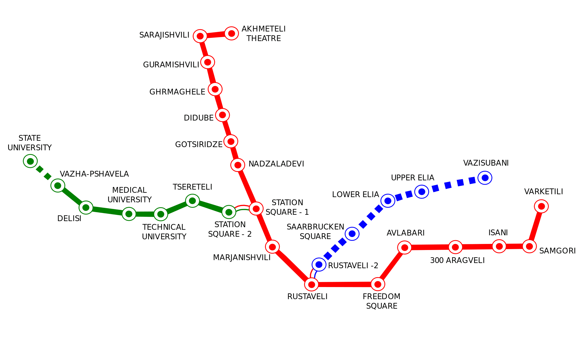 mapa del metro de tbilisi