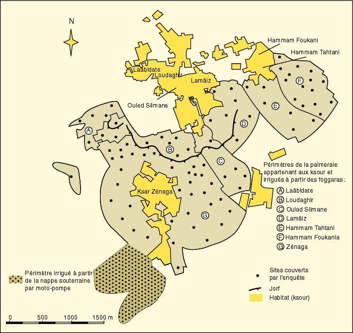 mapa de los ksour de Figuig