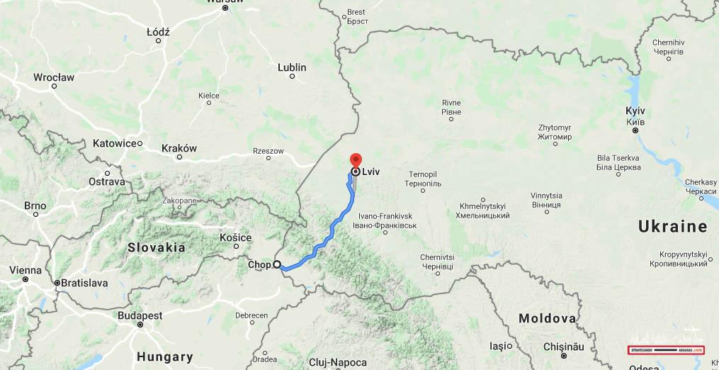 nuestra ruta a través de los cárpatos ucranianos