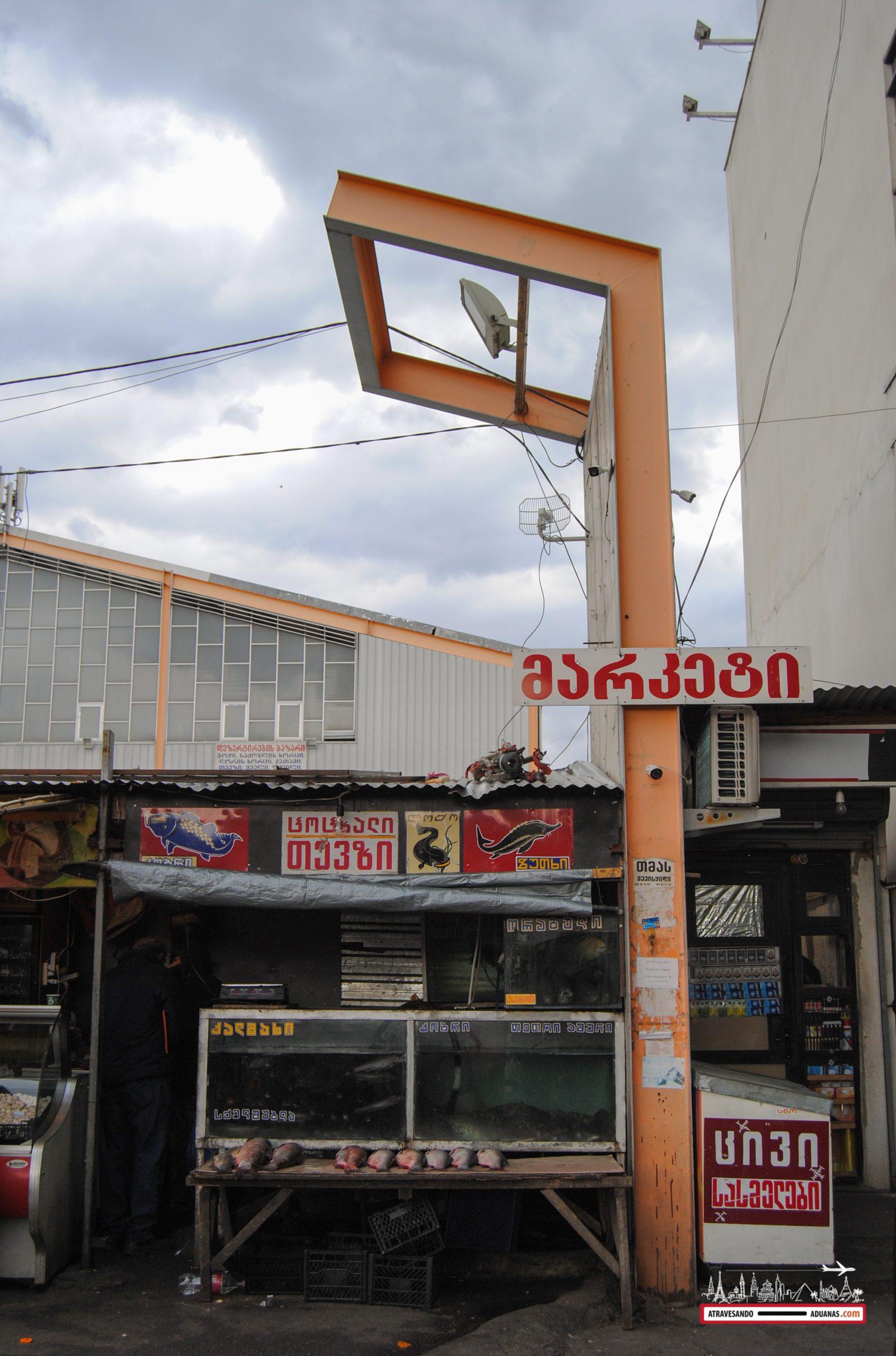 Dezerter Bazaar en Tbilisi, georgia