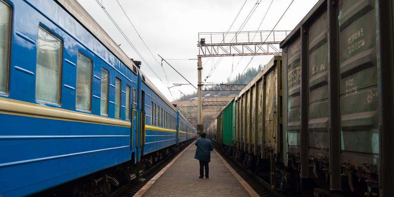 Atravesando los Cárpatos ucranianos en tren