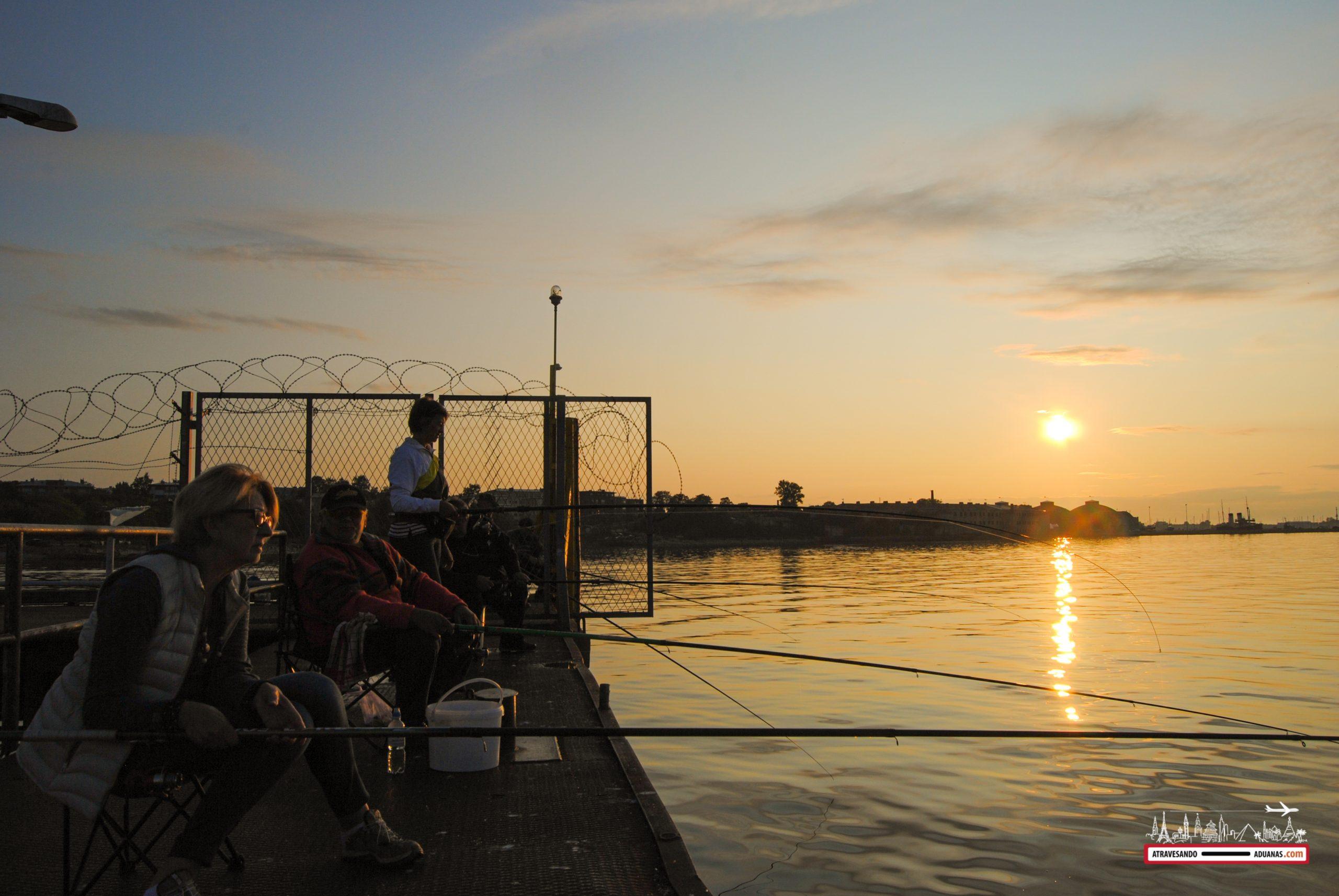 Pescadores al atardecer, Tallinn