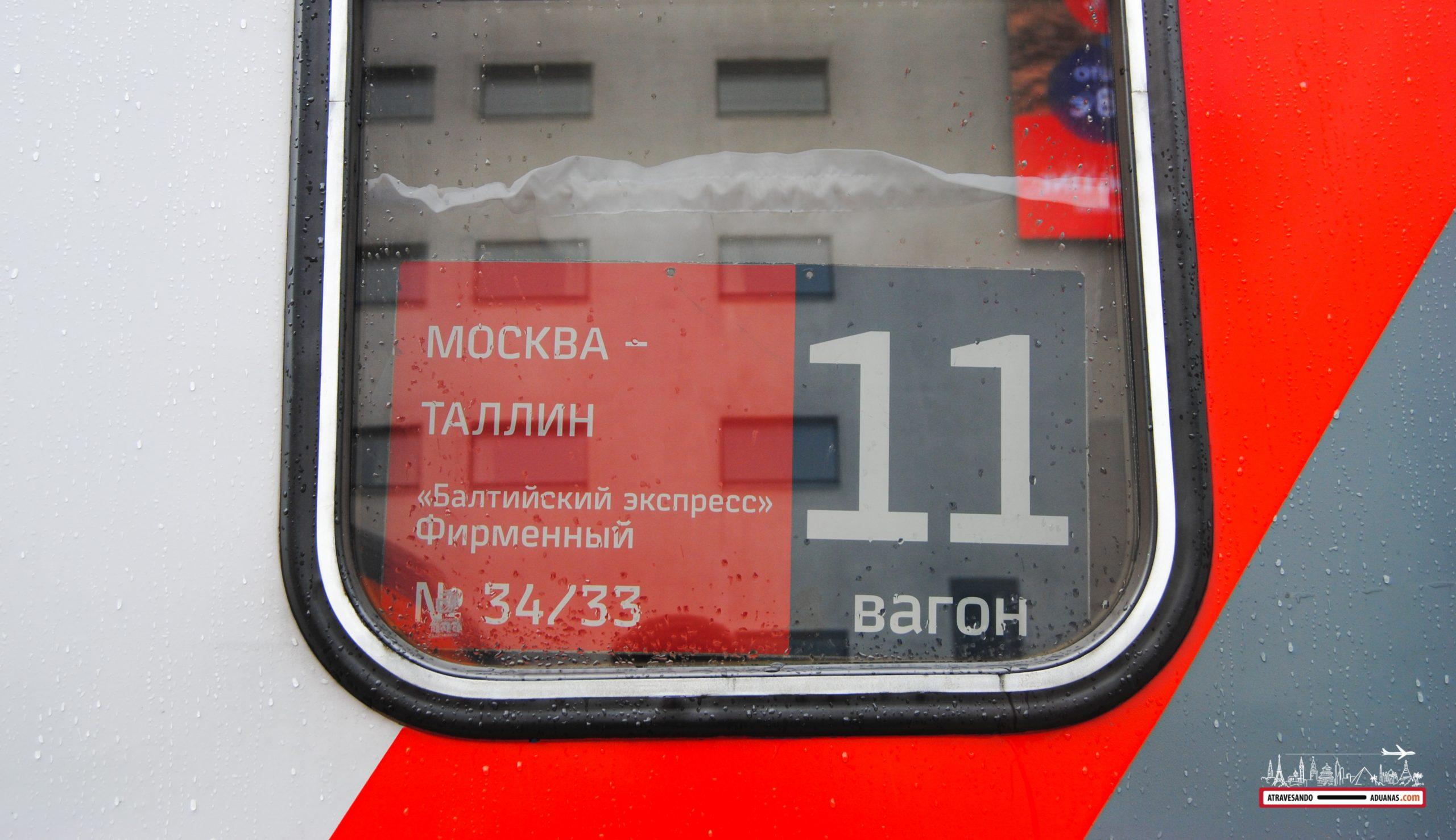 tren operando la ruta Moscú - Tallinn