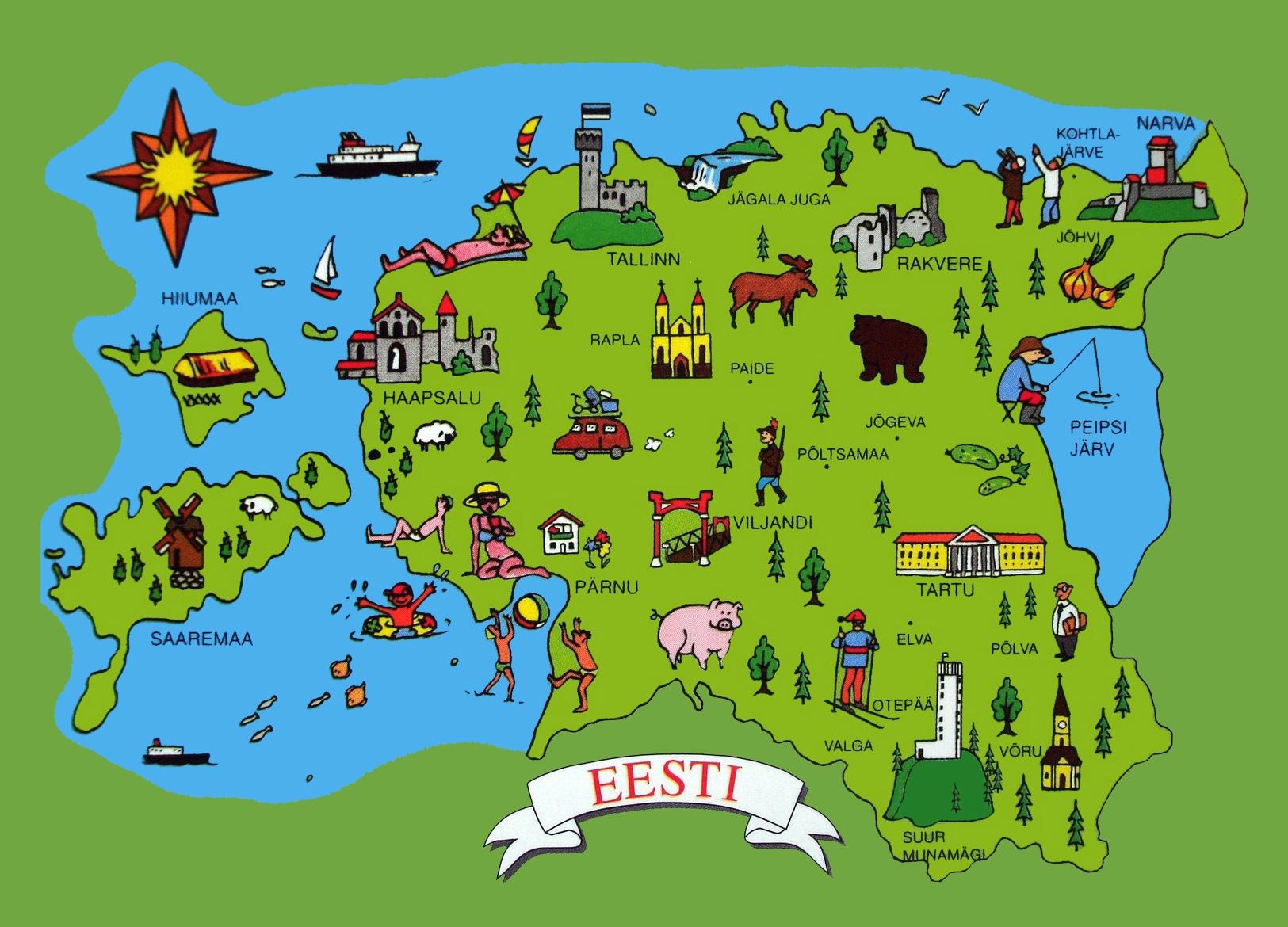 Mapa turístico de Estonia
