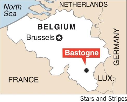 Mapa de Bastoña en Bélgica
