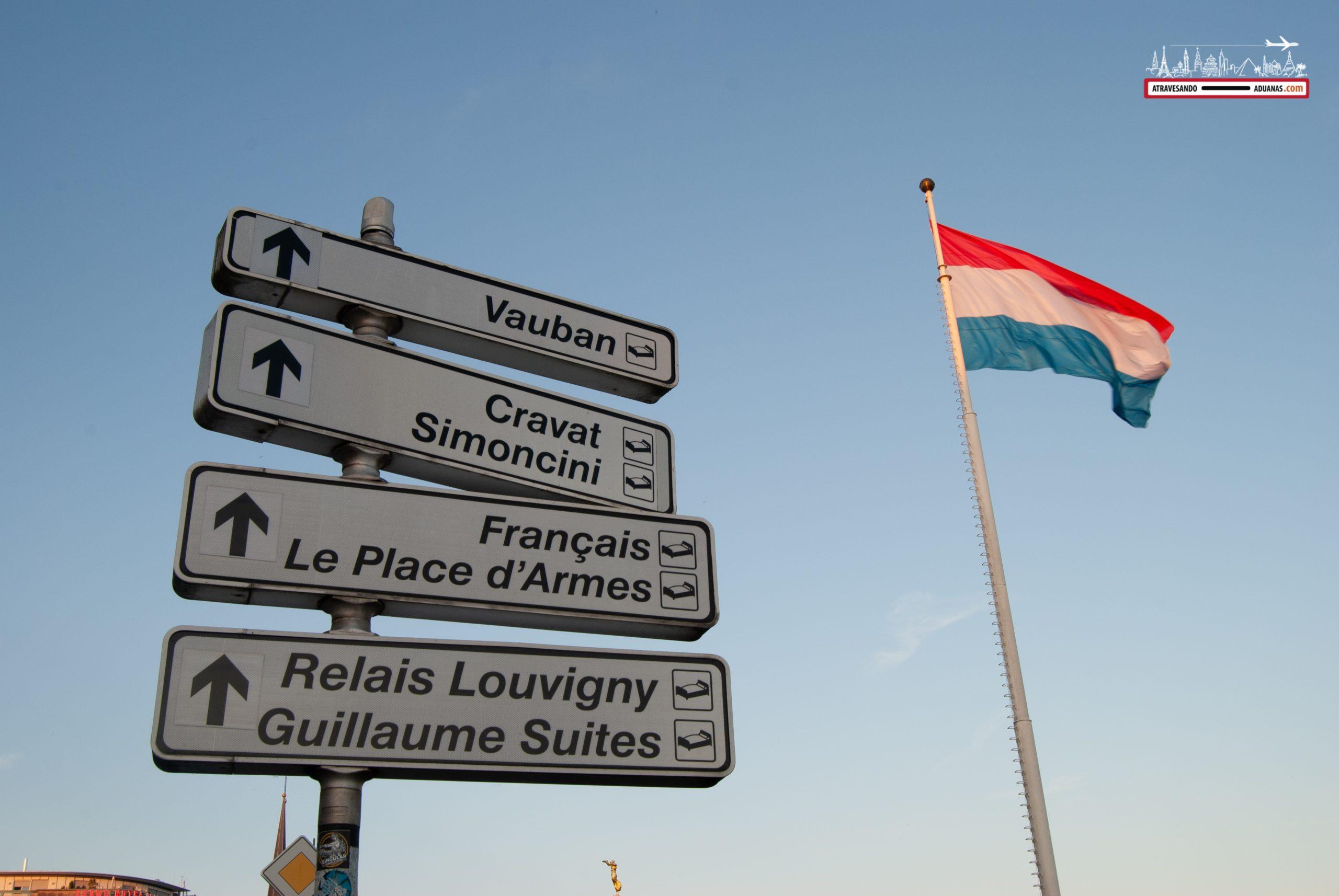 Carteles de indicaciones en Luxemburgo