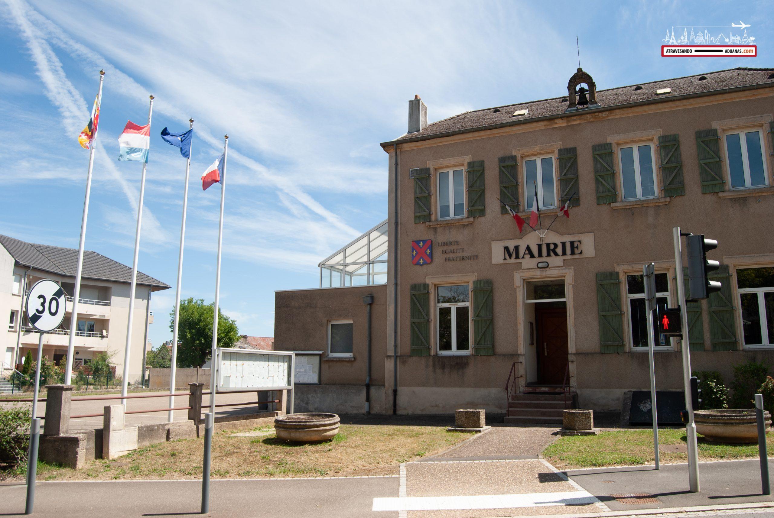 Frontera entre Francia y Luxemburgo en Mondorf