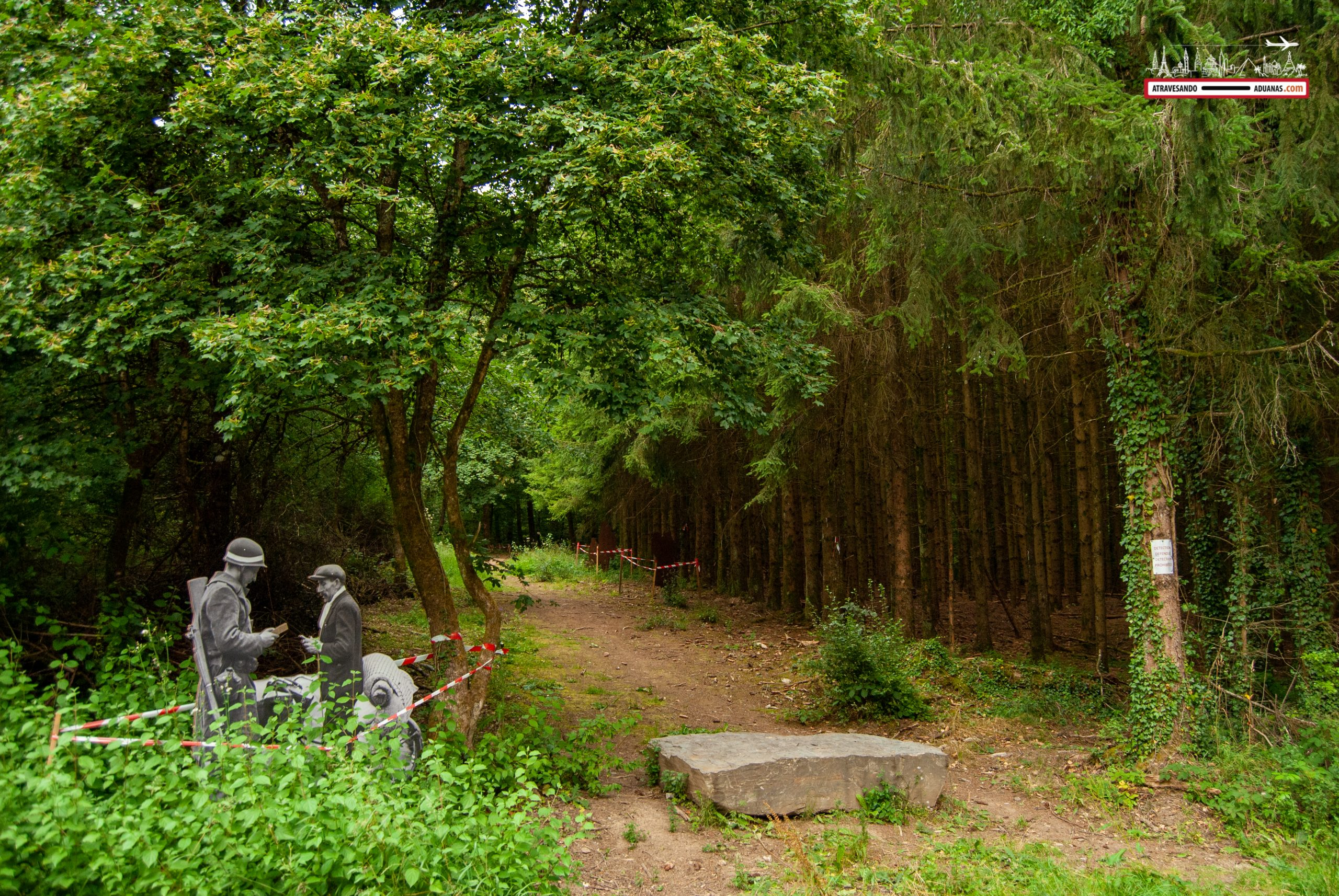 Recreación en el Memorial Trail de las Ardenas, Luxemburgo