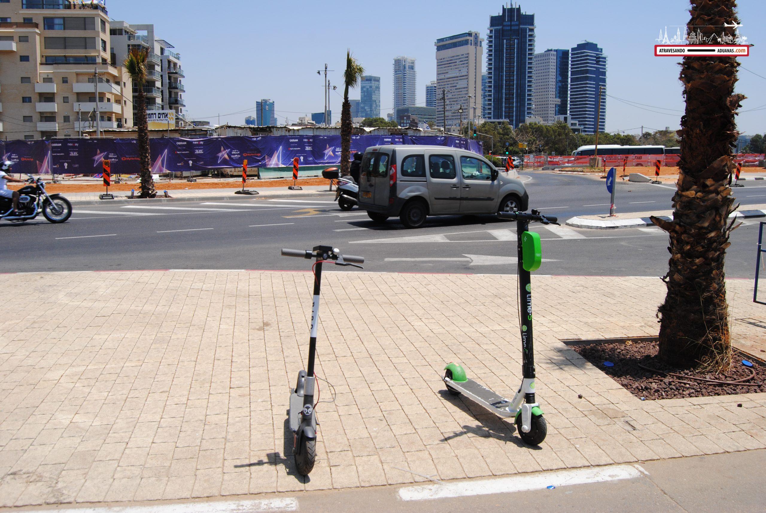 Patinetes en Israel
