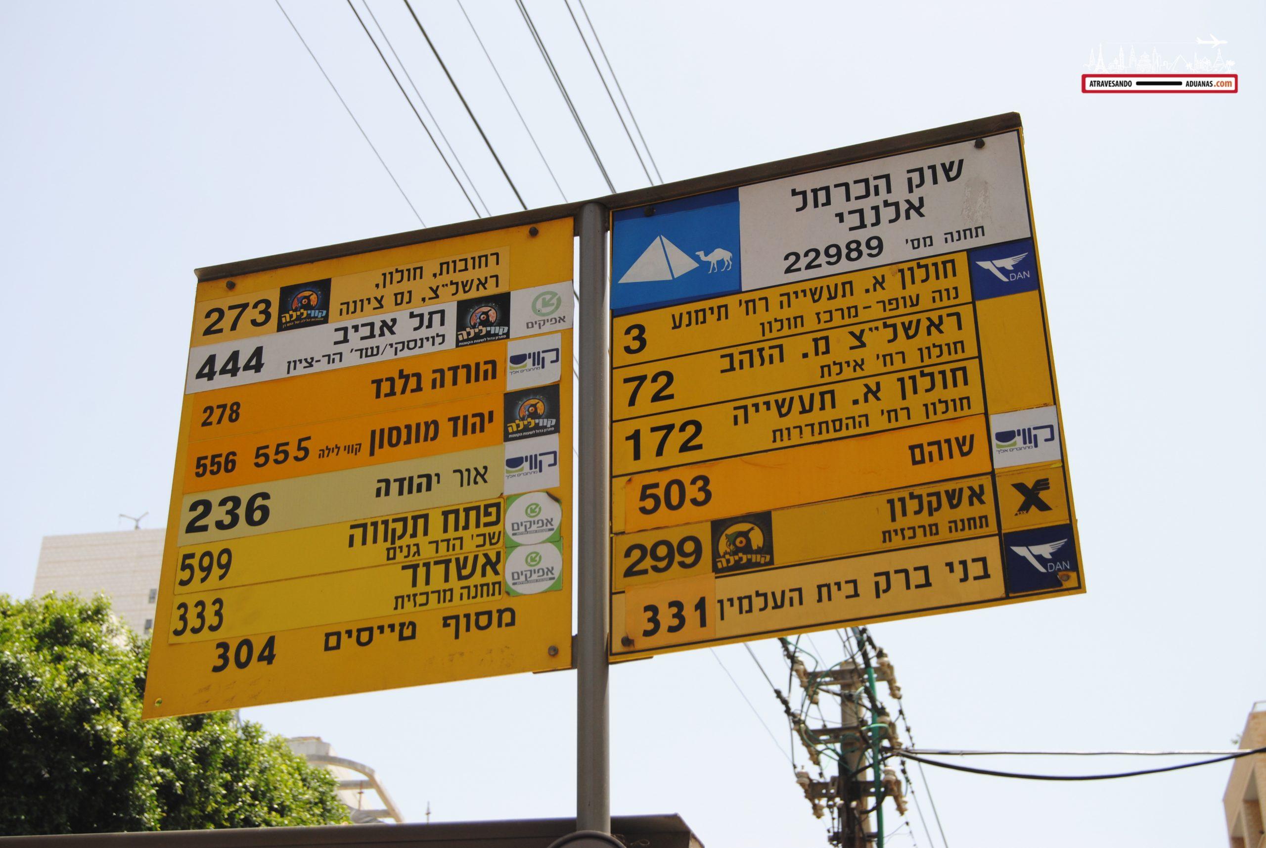 Transporte público en Tel Aviv