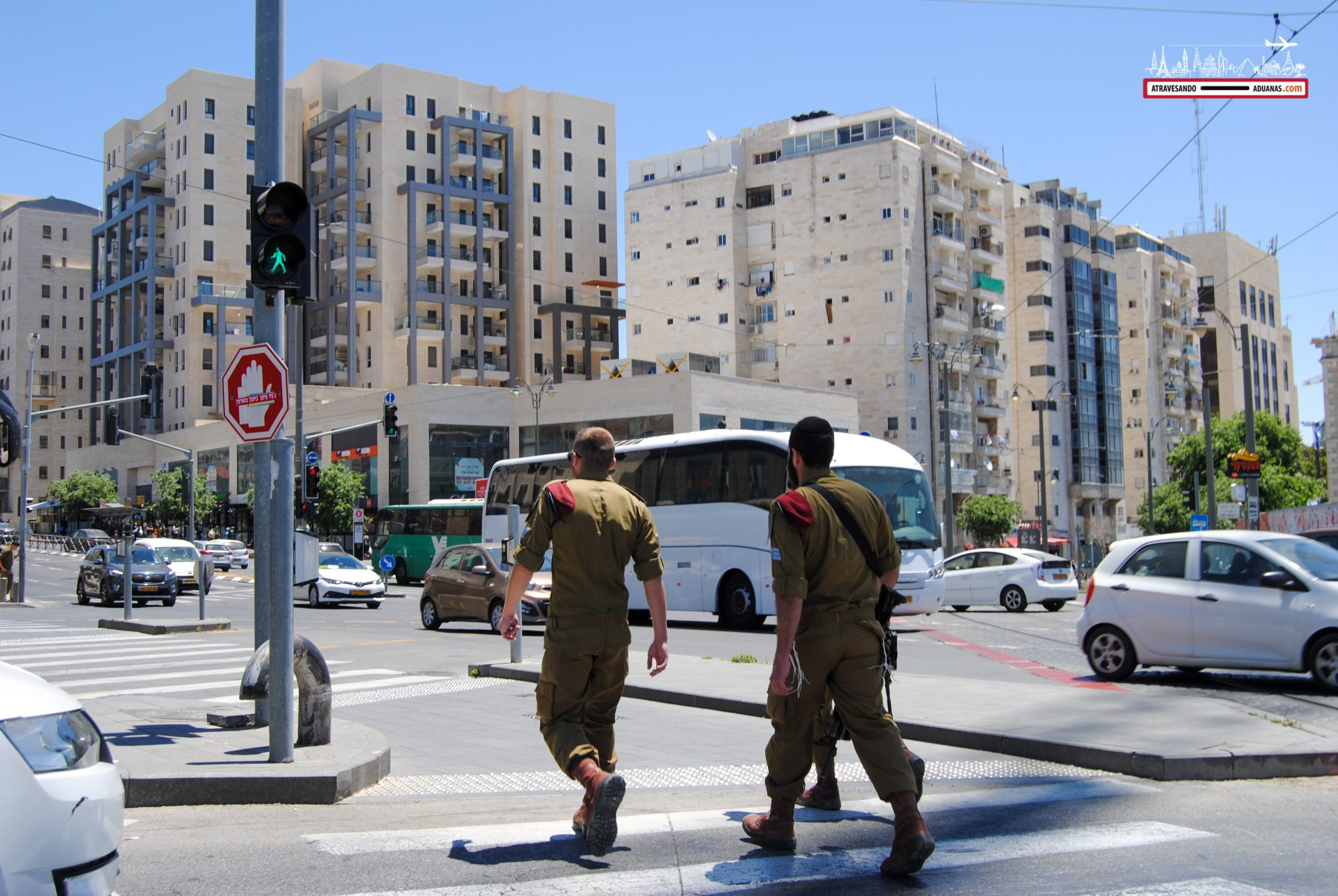 Soldados israelíes en Jerusalén, Israel