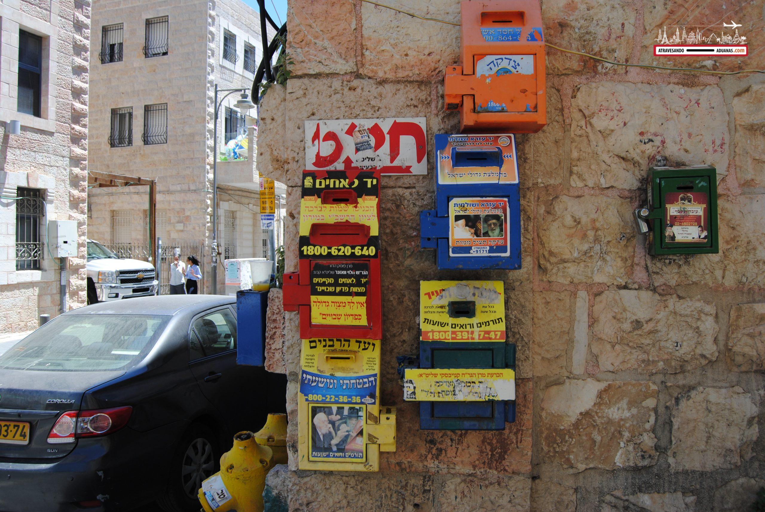 Cajas sorpresa en Mea Shearim, Israel