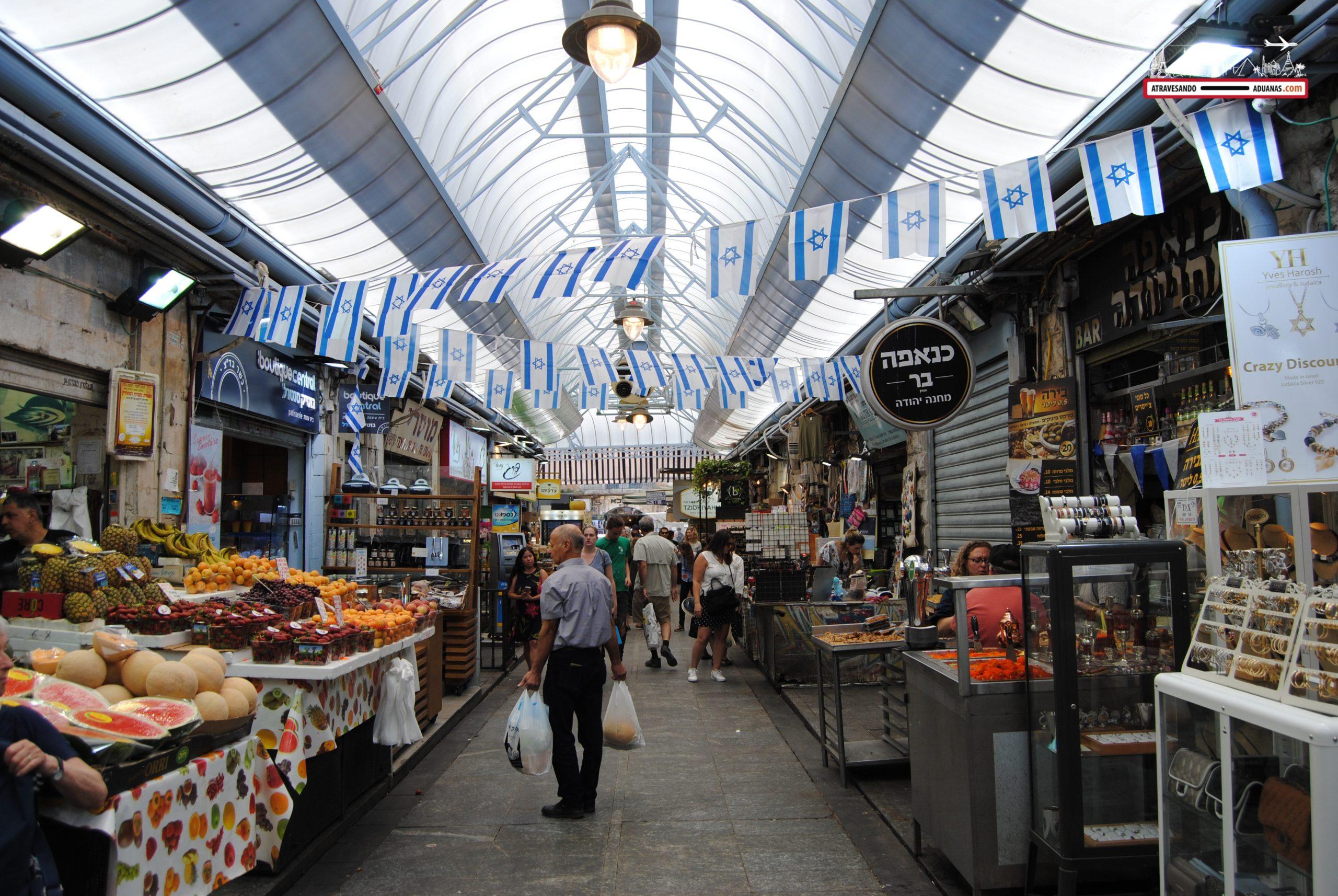 Mahane Yahuda market en Jerusalén, Israel