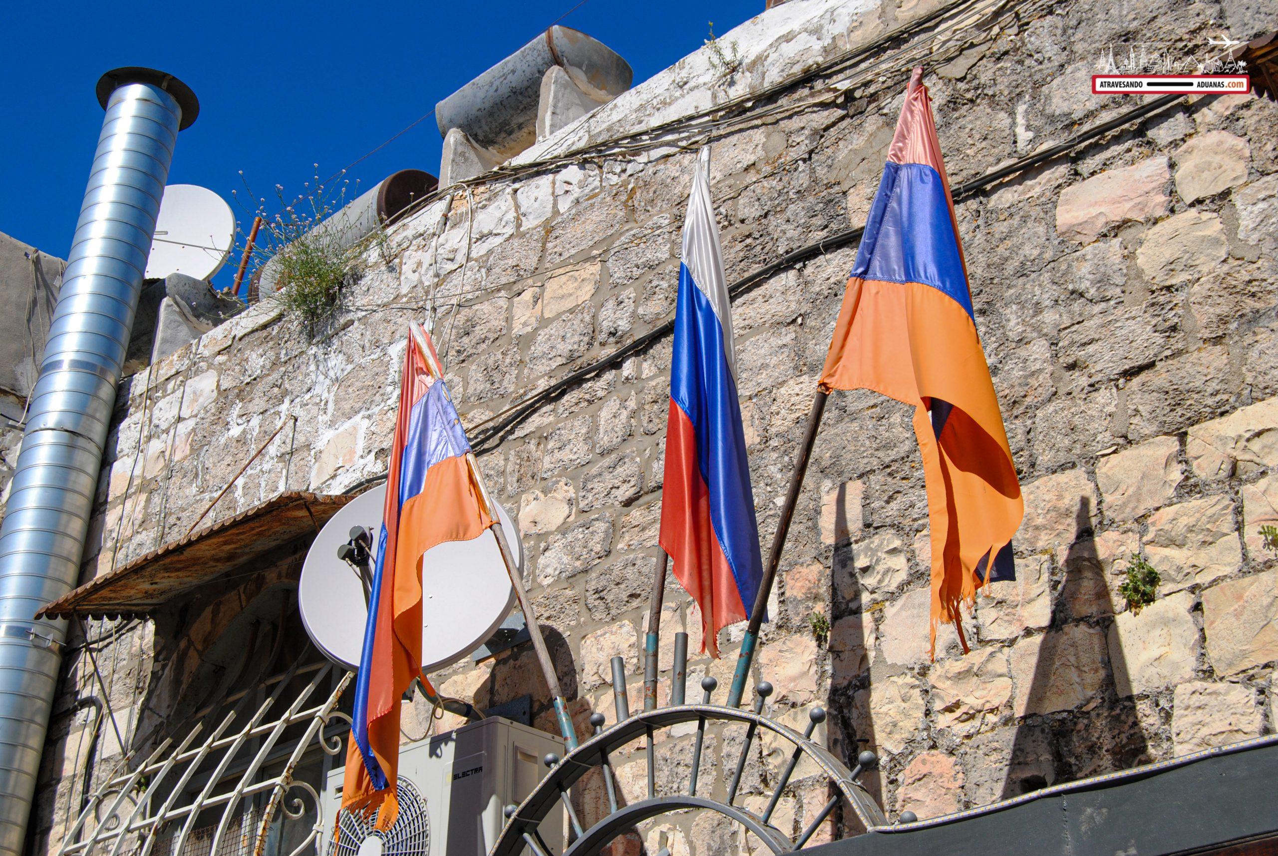 Banderas armenias en Jerusalén