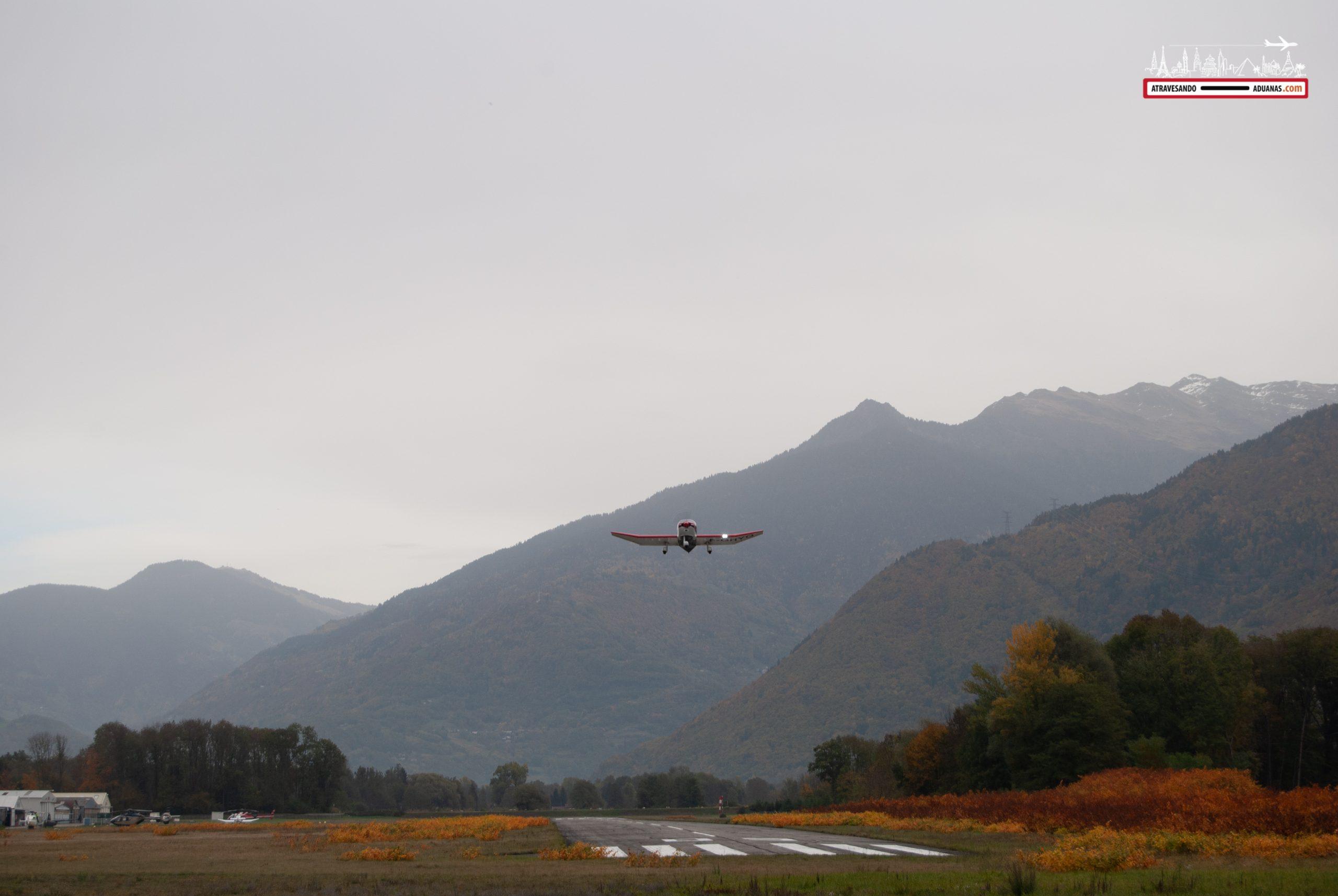 Aeródromo en el valle de l'Isère