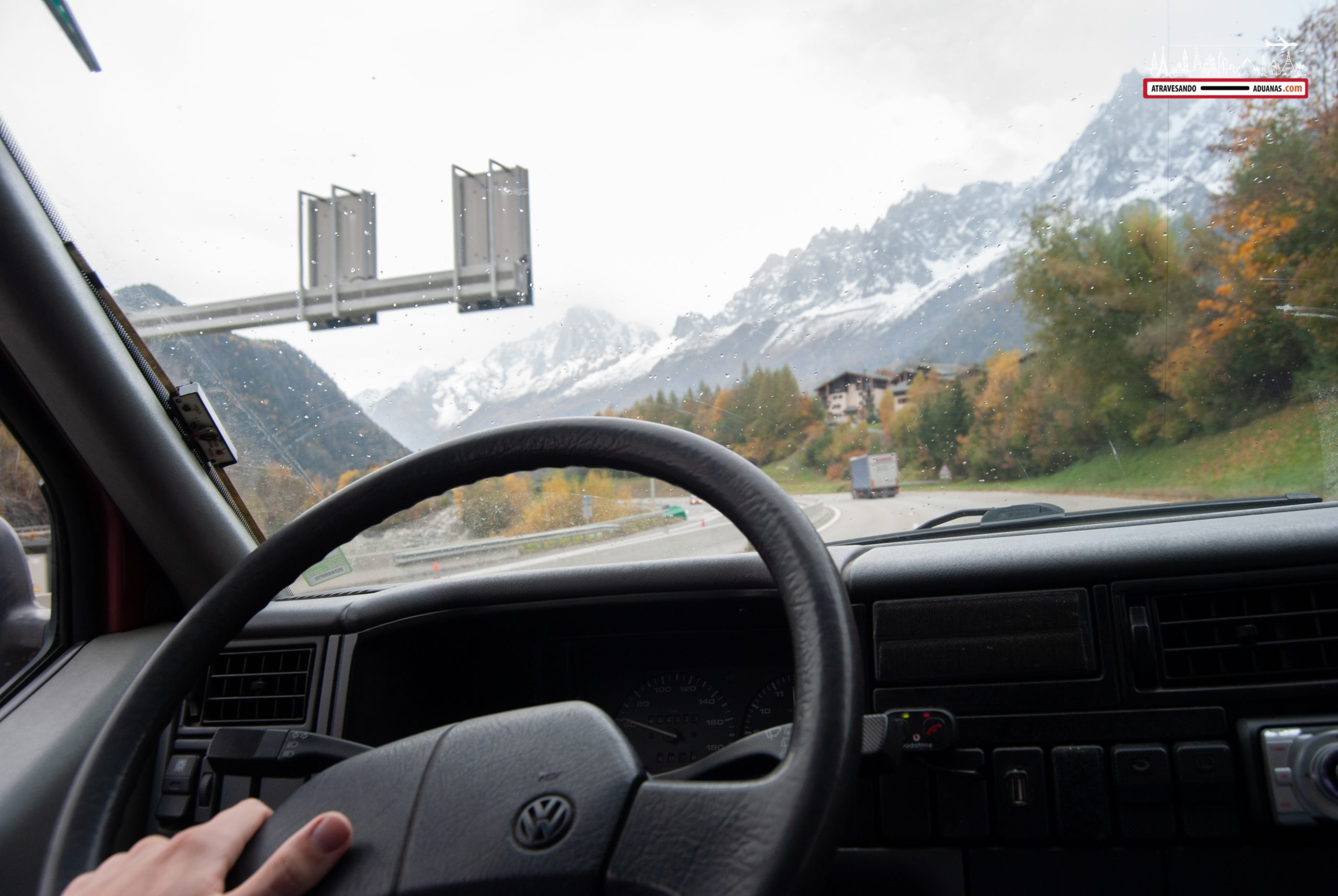 La N-205 de camino a Chamonix