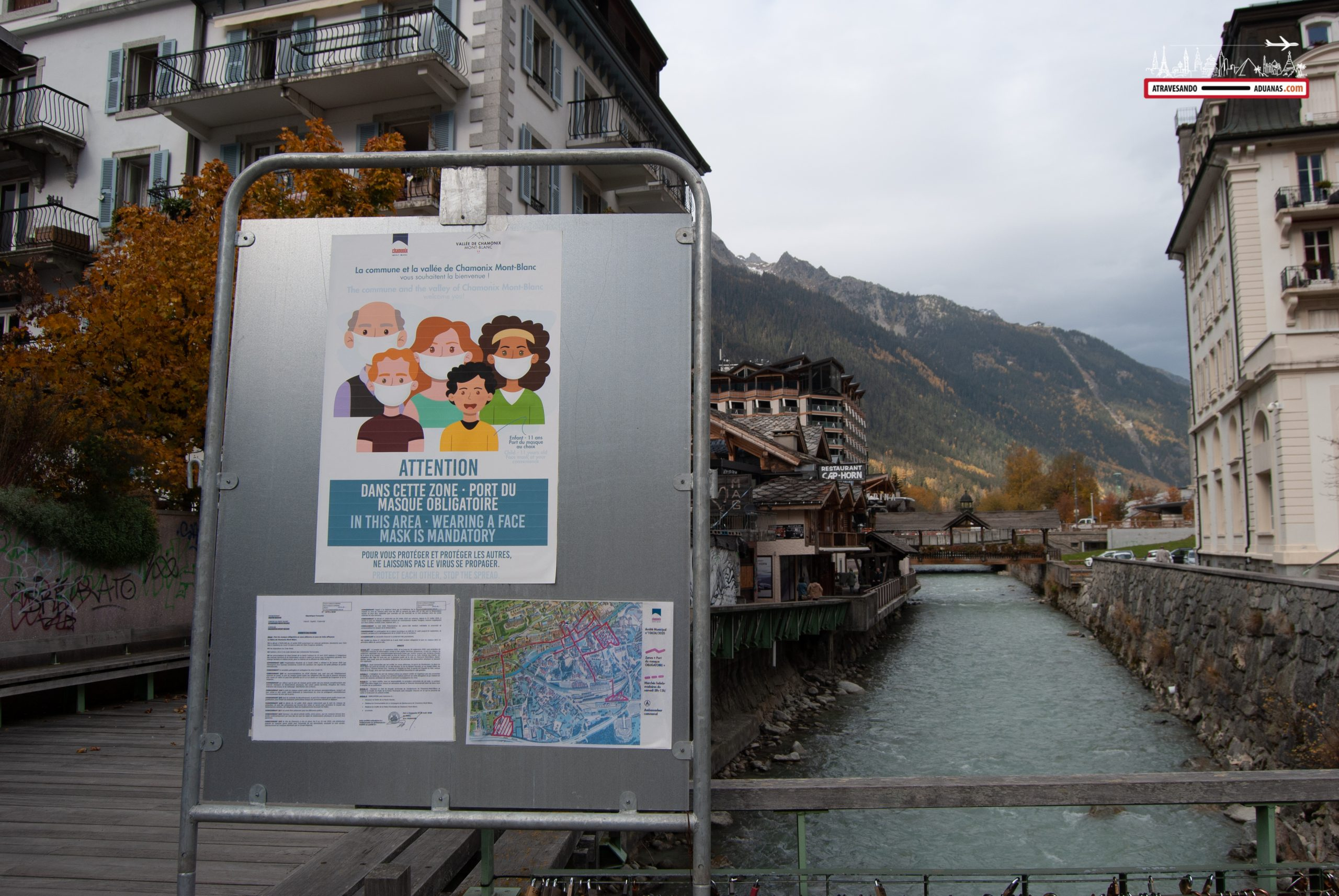 Mascarilla obligatoria en Chamonix-Mont Blanc