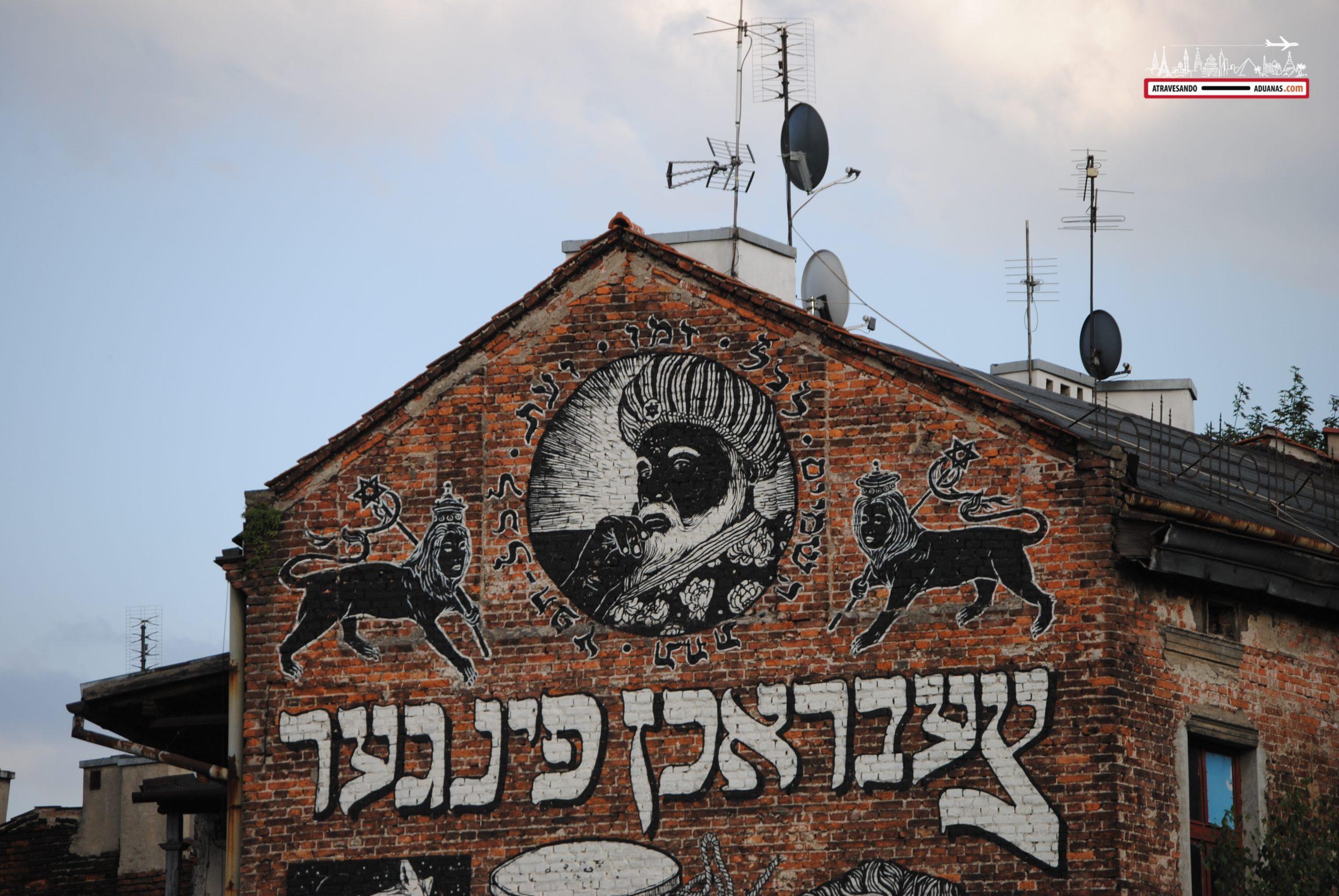Mural en hebreo en Kazimierz