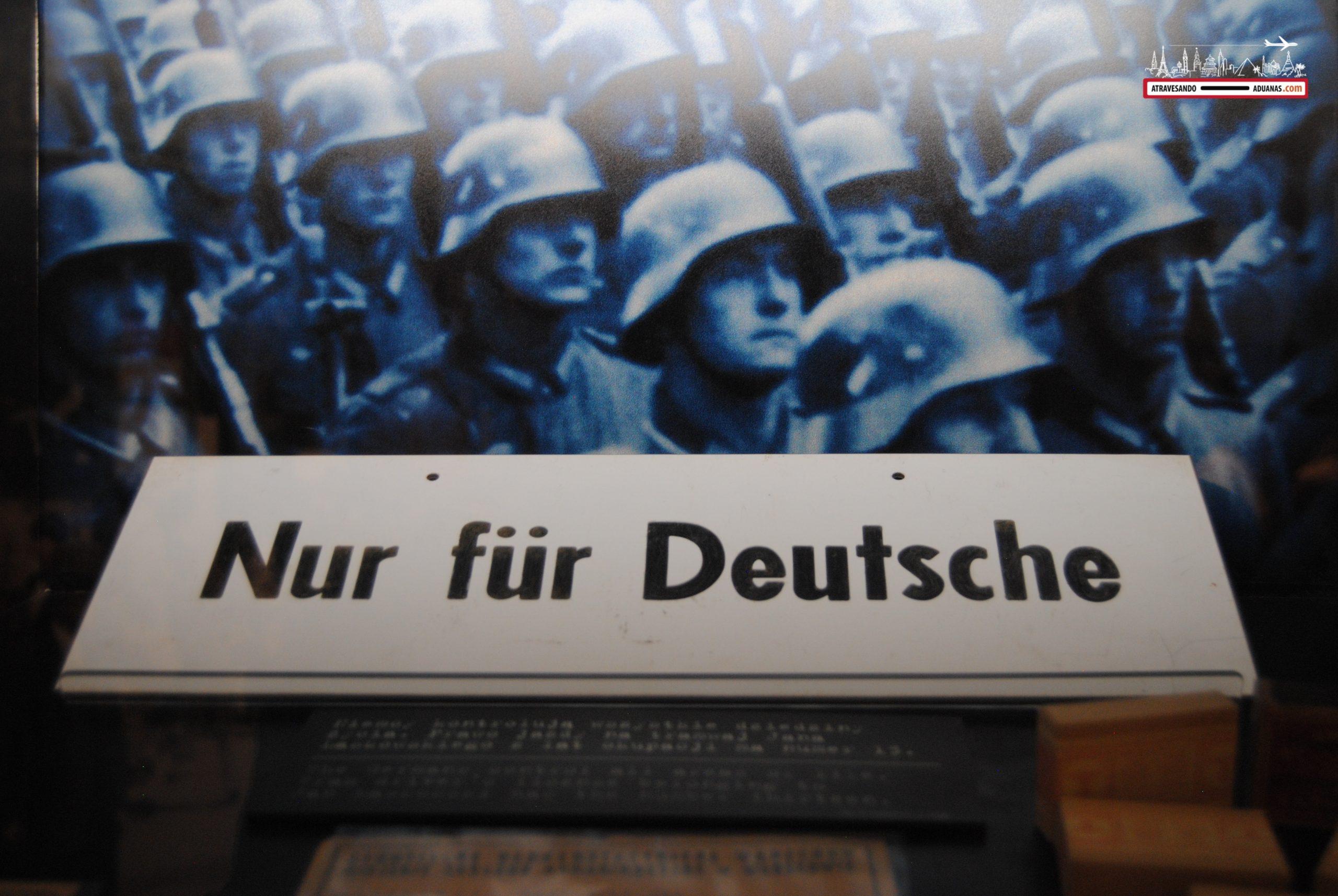 Cartel de solo para alemanes