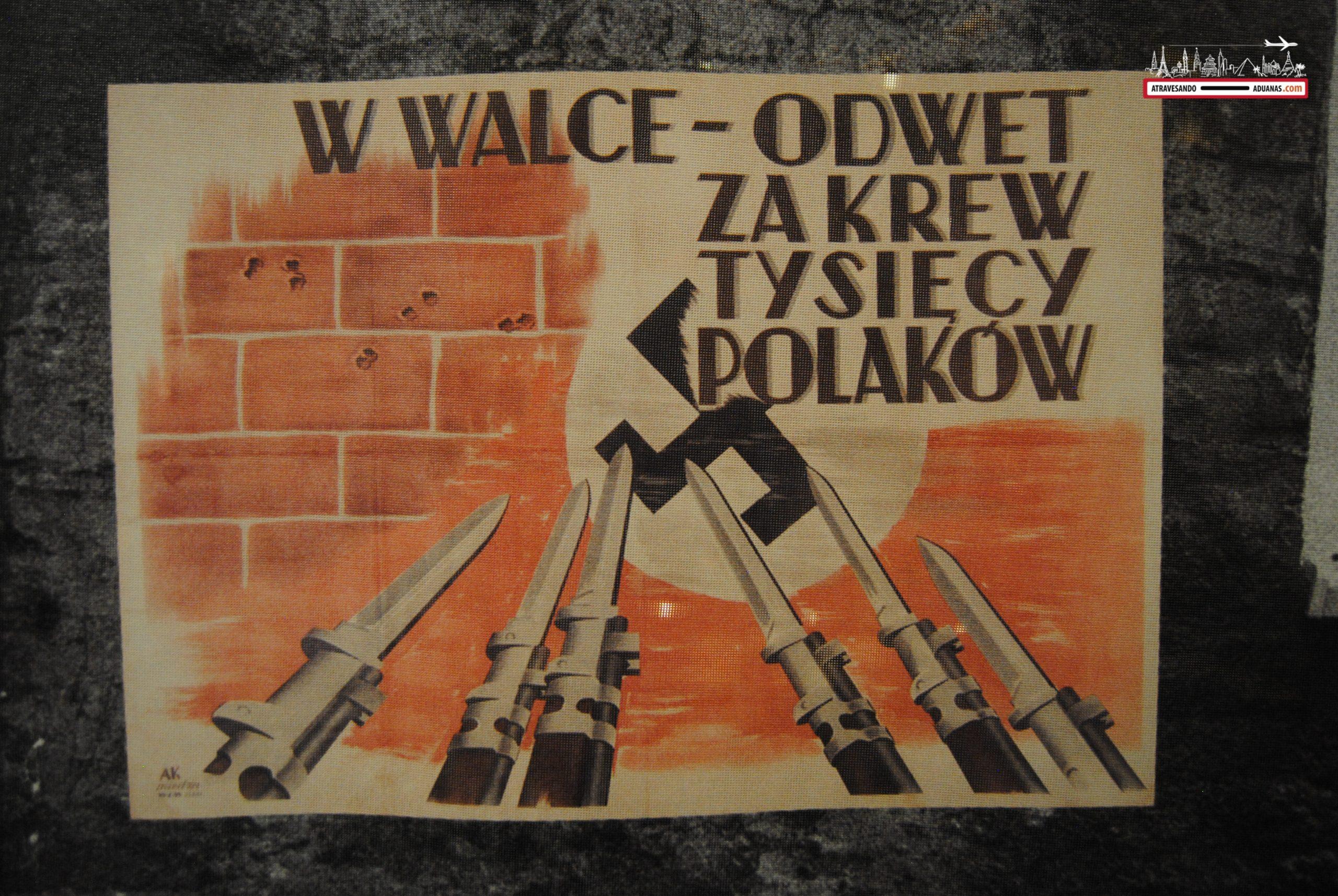 Cartel propagandístico polaco en contra de los alemanes