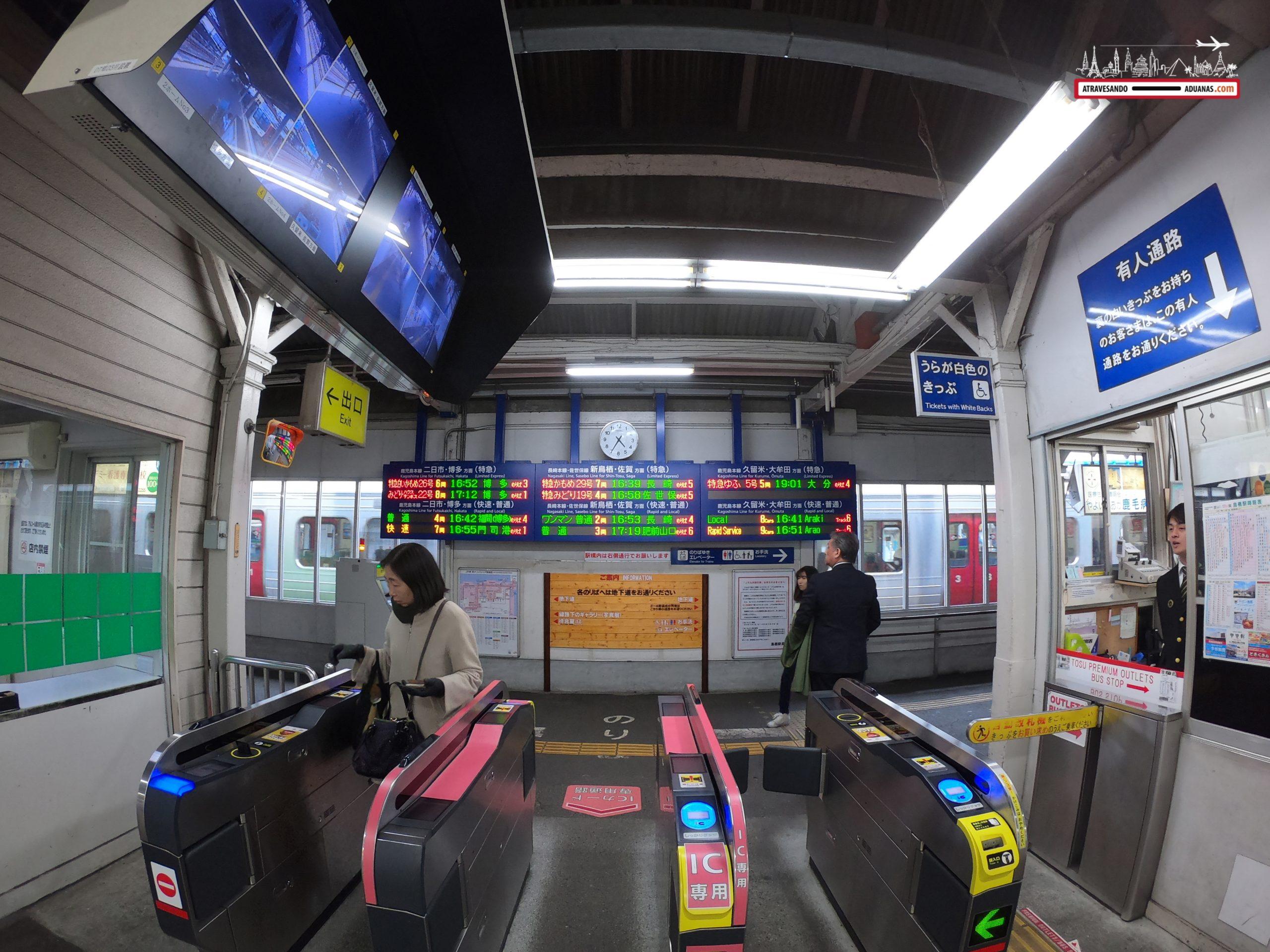 Estación de tren en Saga