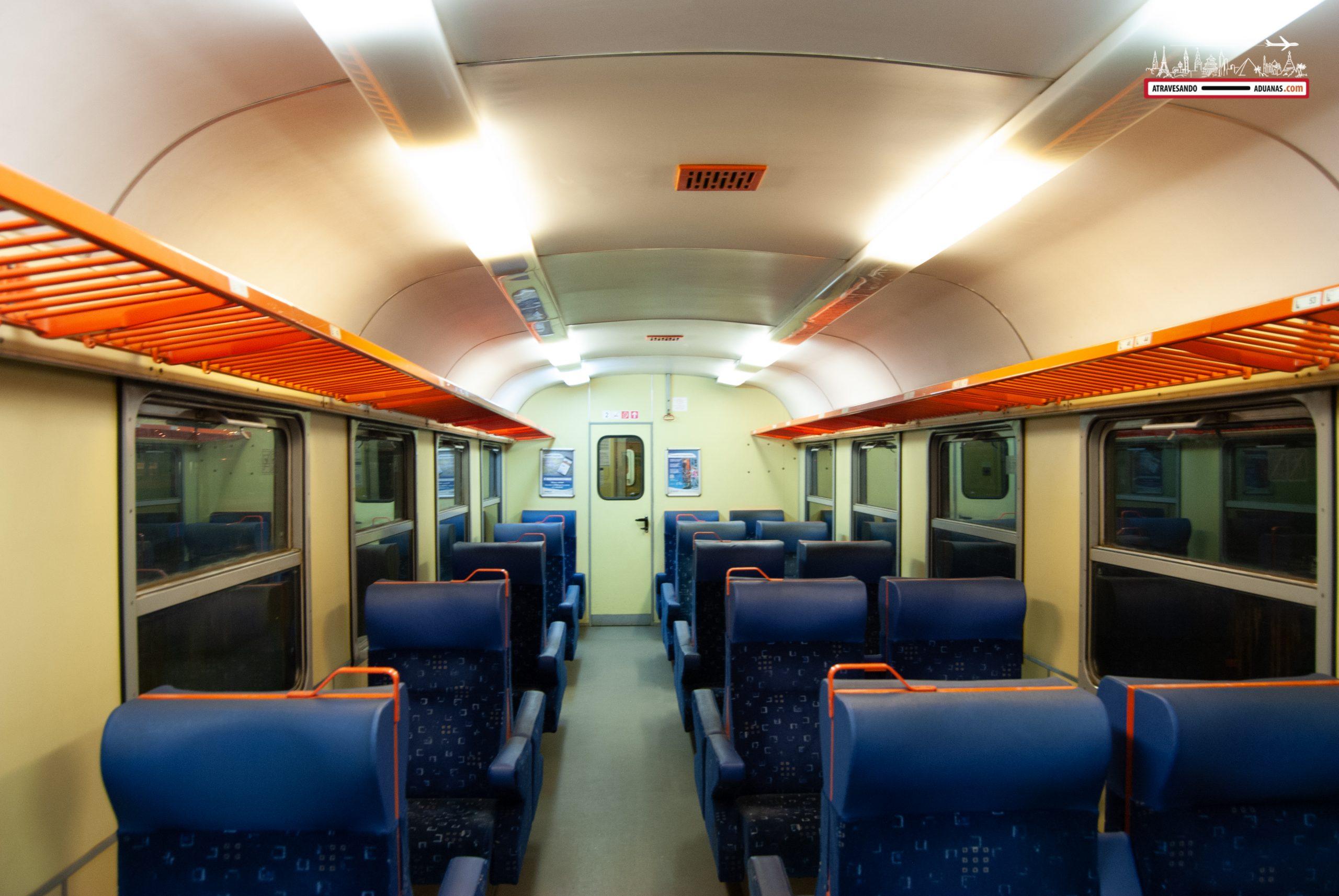 Tren húngaro en el interior