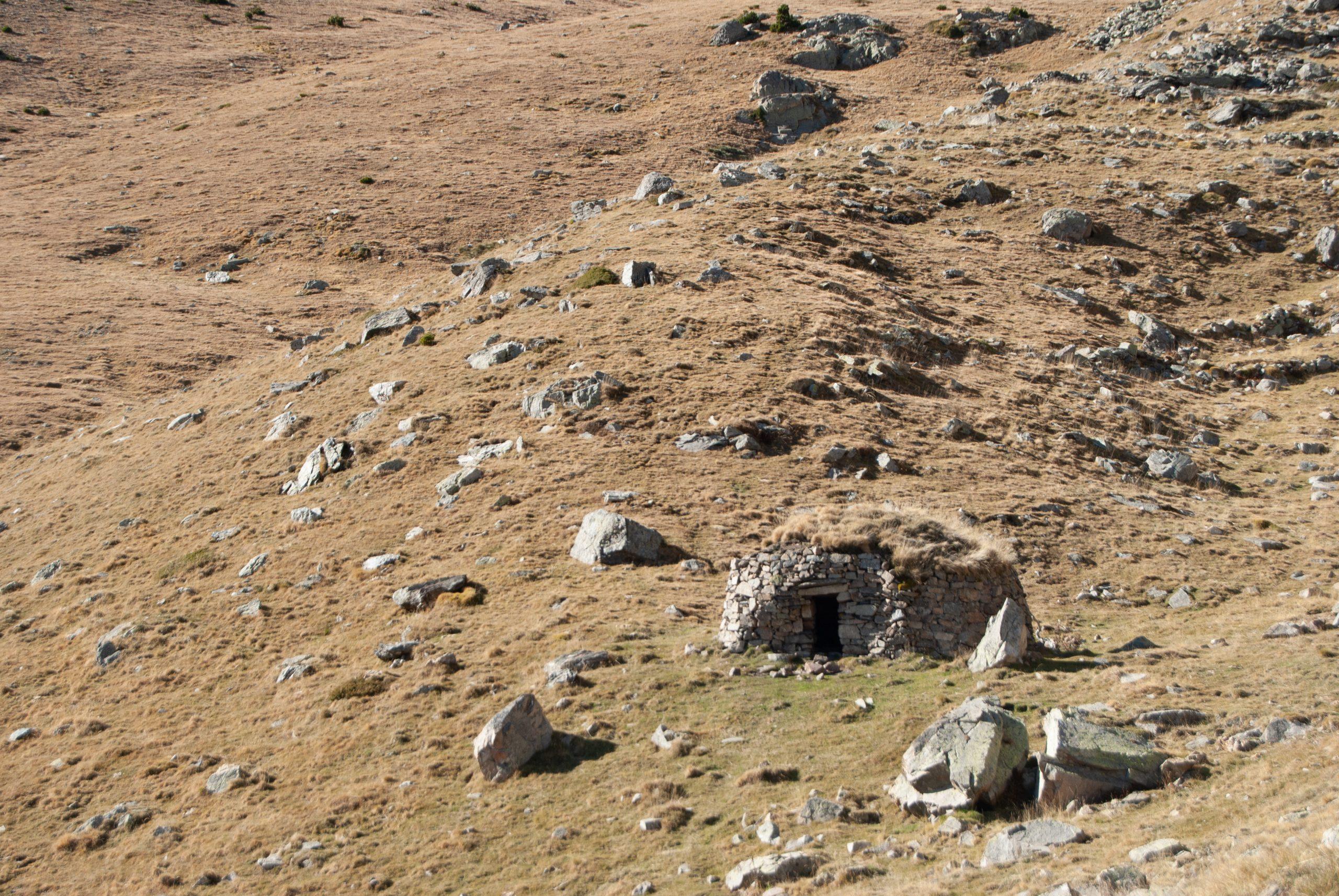 Refugio de montaña improvisado de camino a Núria