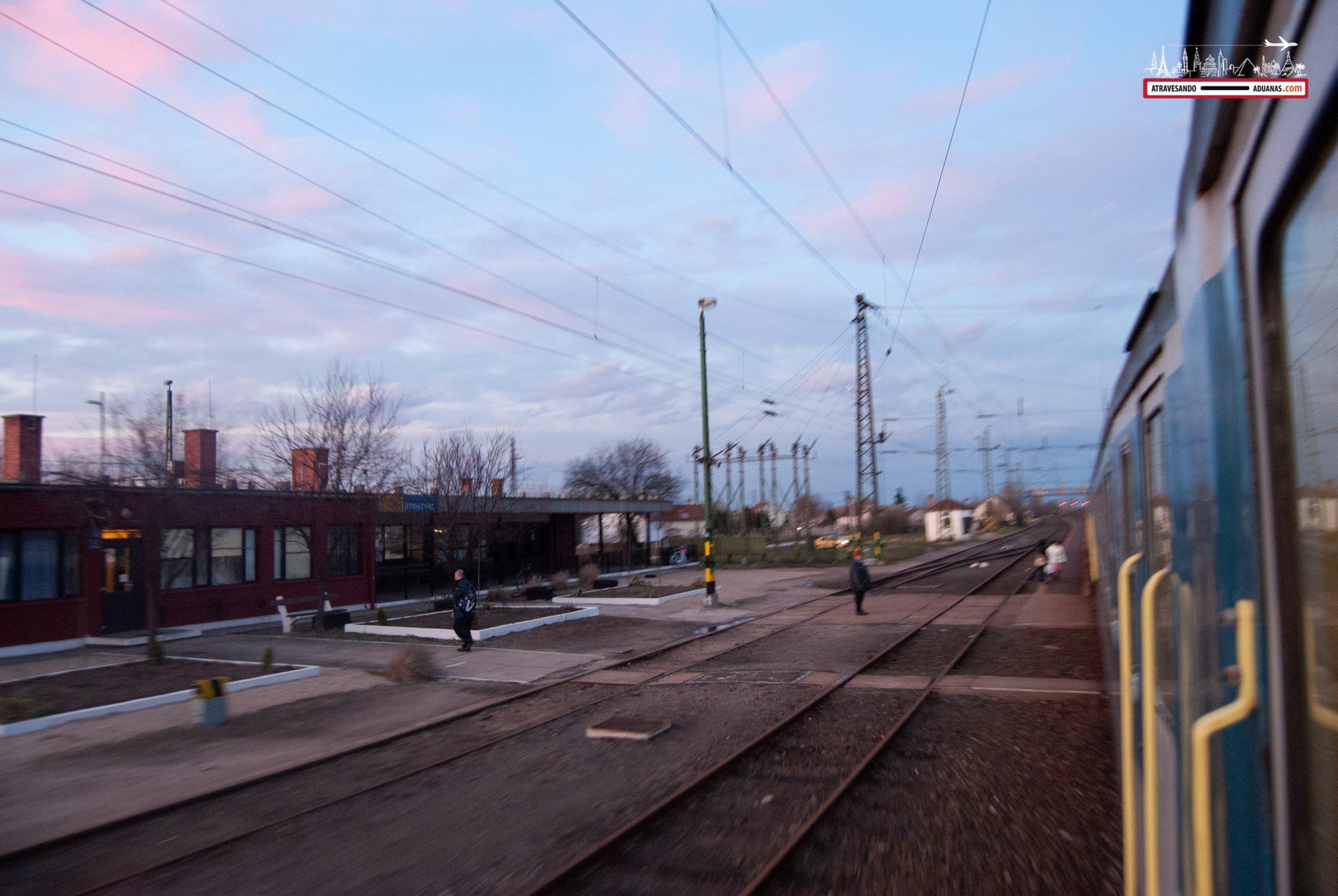 Estación de tren en Hungría