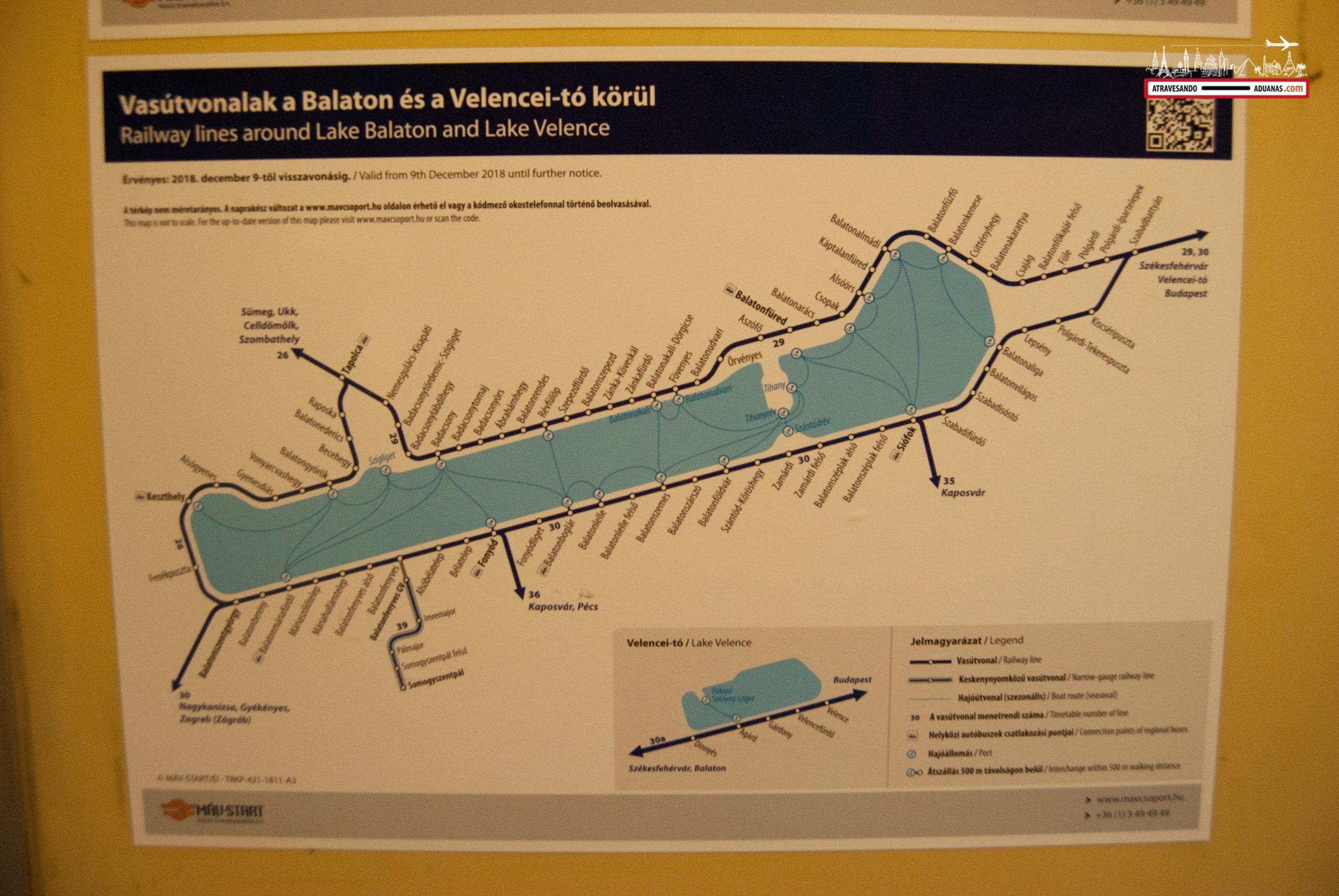 Ruta ferroviaria a través del Balaton