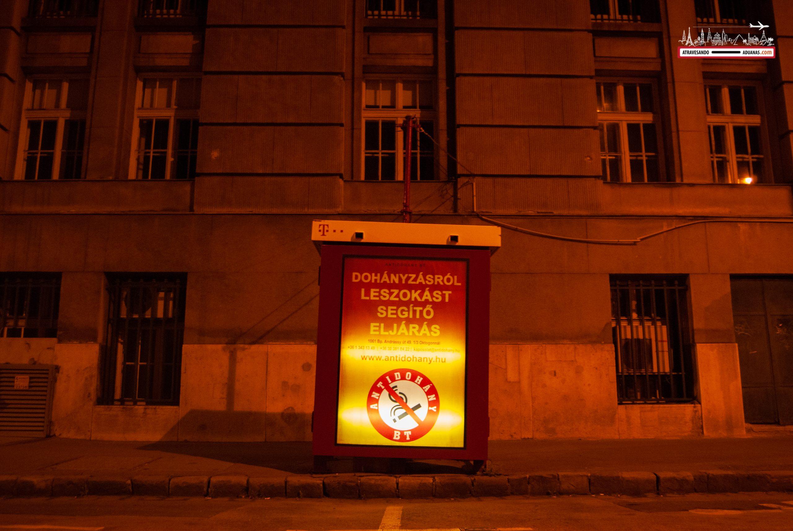 Centro de Budapdest por la noche
